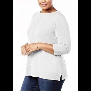 Karen Scott  Plus Lux Soft Roll Neck Sweater